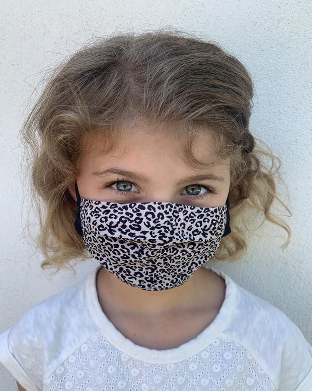 Kids Micro Cheetah Face Covering Age 6-9 - 2 Pack