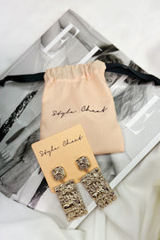 Gracie Gold Drop Statement Earrings