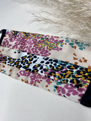 Multi Leopard Print Washable Face Covering - Adjustable
