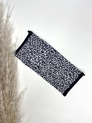 Micro Cheetah Print Washable Face Covering - ADJUSTABLE