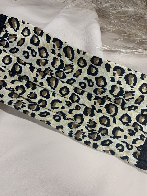 Animal Print 100% Mulberry Silk Face Covering