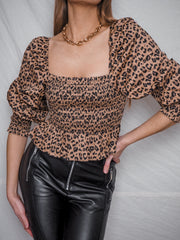 Animal Print Long Sleeve Top | Jordan Animal Print Top
