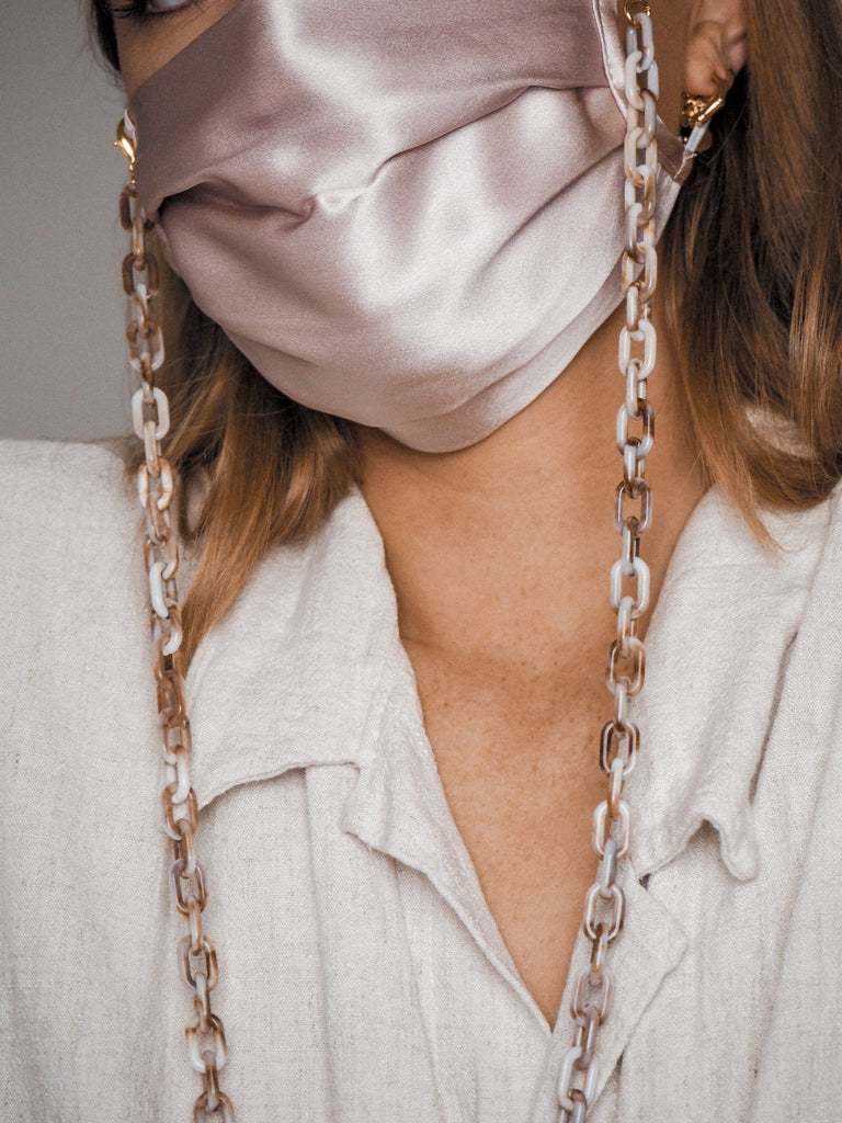 Mask Chains in Black and Beige (2 Pack)