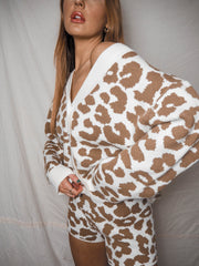 Joey Animal Print Knitted Loungewear Short