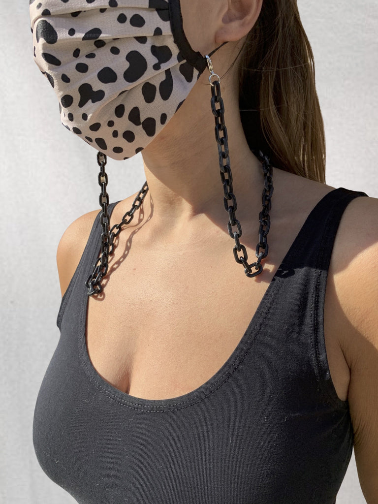 Mask Chains in Tortoise Black and Beige (2 Pack)