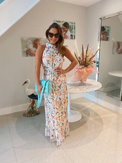 Willow High Neck Floral Print Maxi Dress - As Seen On Sam Faiers