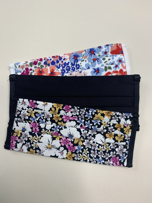 3 Pack Floral Mixed Print Washable Face Coverings