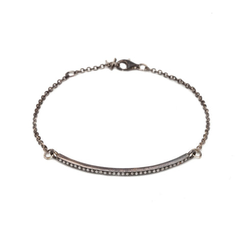 Barra Bracelet with Champagne Diamonds - sterling silver