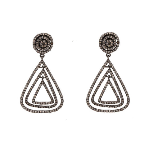 Marquis Diamond Statement Earrings