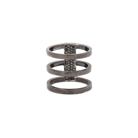Triple Bar Champagne Diamond Ring