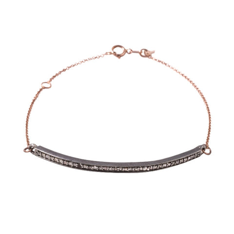 Barra Bracelet with Champagne Diamonds, rose gold