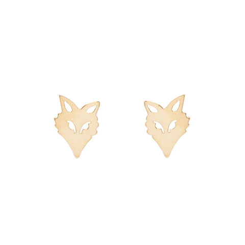 Fox Head Earrings