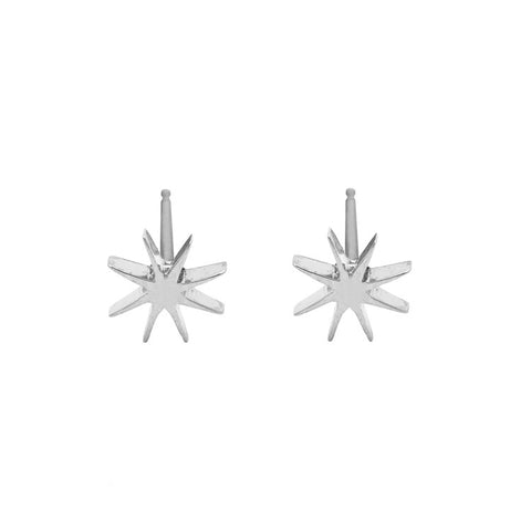 Tiny Sunburst Earrings - Sterling Silver