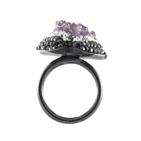 La Costa Amethyst Cocktail Ring