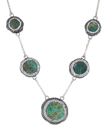 La Costa Chrysocolla 5 Stone Necklace