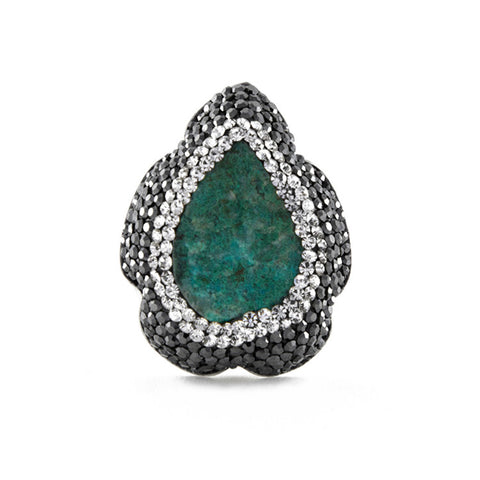 La Costa Chrysocolla Medium Teardrop Shaped Ring