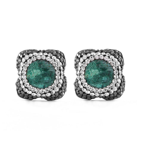 La Costa Chrysocolla Petite Stud Earrings
