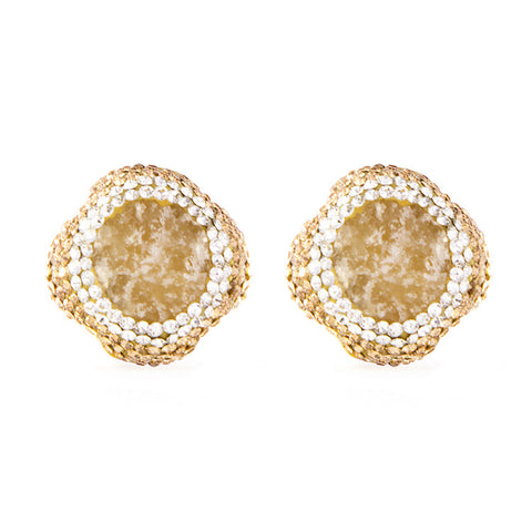 La Costa Orange Calcite Small Stud Earrings