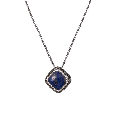 Blue Lapis Square Necklace
