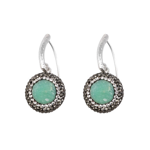 Green Chrysoprase Drop Earrings