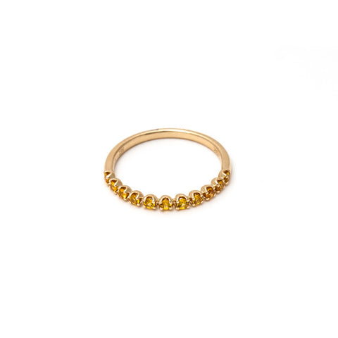Pratiksha Yellow Sapphire Infinity Stacking Band
