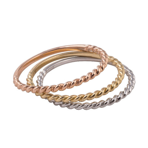 Tri-Color Stacking Ring