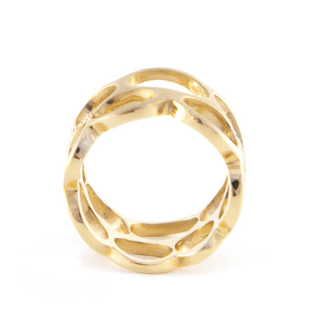 Roger Benatar Double Row Circle Band with Diamonds