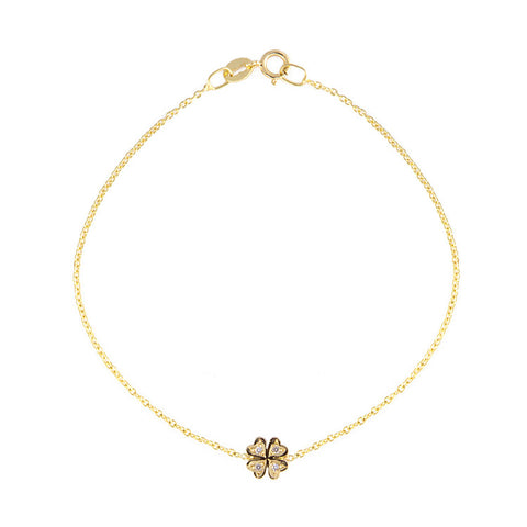 Roger Benatar Diamond Clover Bracelet - Yellow Gold