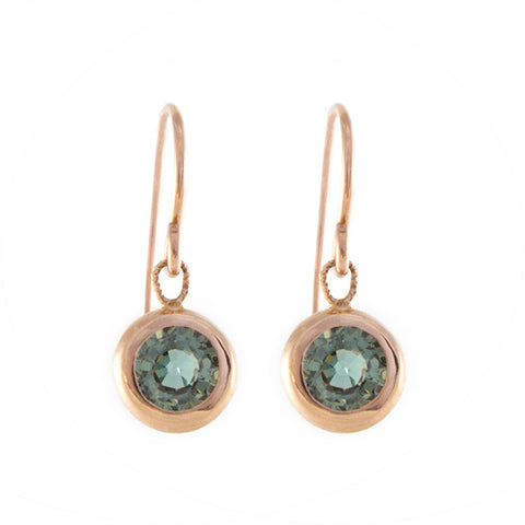 Roger Benatar Tiny Green Sapphire Drop Earrings