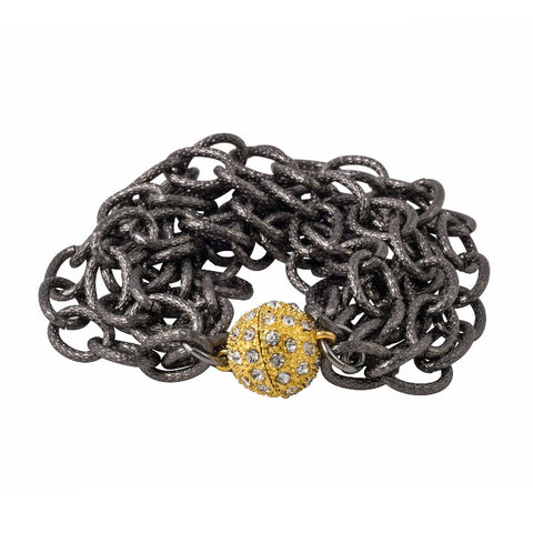 Chainlink Spy Bracelet with Gold Clasp