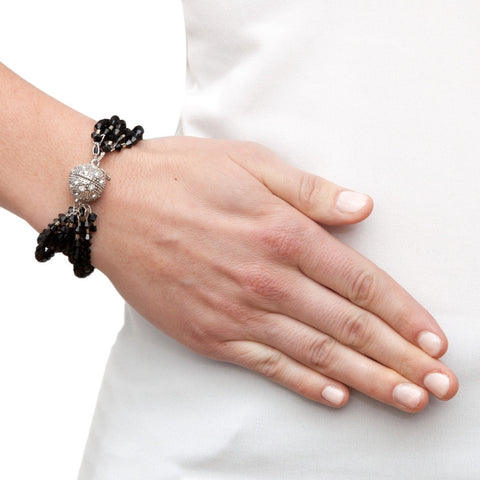 Swarovski Black Crystal Bracelet on model