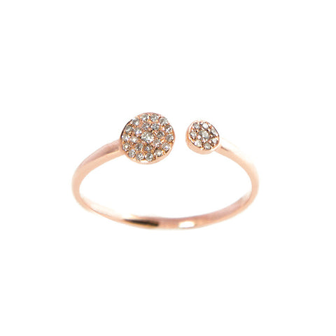 Tandem Diamond Circle Ring