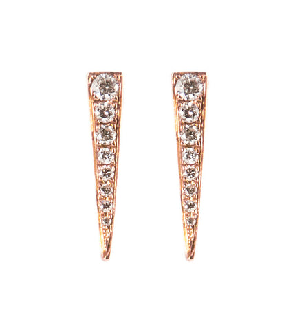 Rose Gold Diamond Spike Studs