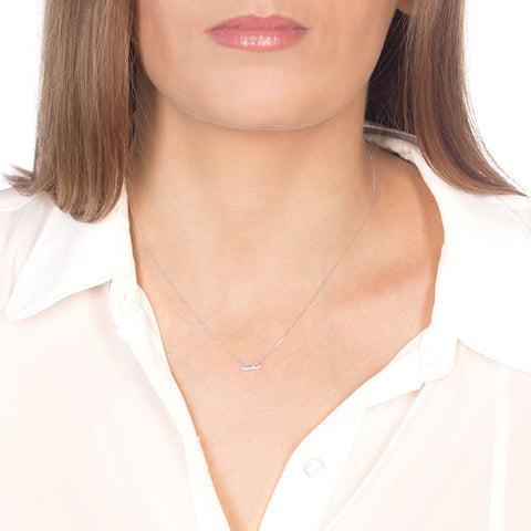 Sylvie Rose Mini Diamond Bar Necklace