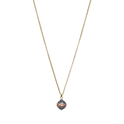 Ruby And Diamond Pendant Necklace