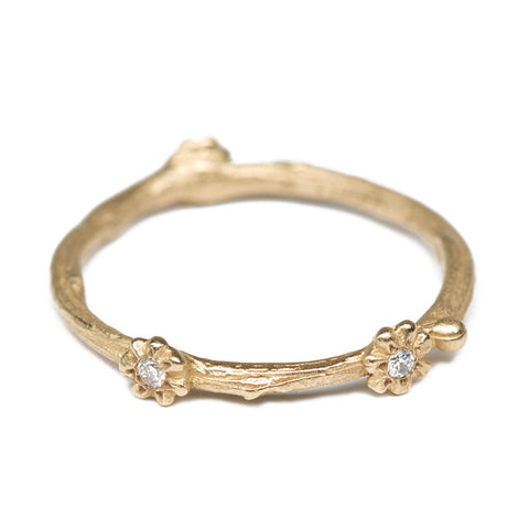 Gold Daisies Stacking Ring