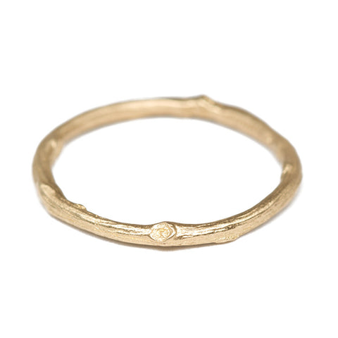 Gold Twig Stacking Ring