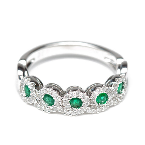 Royal Emerald And Diamond Ring