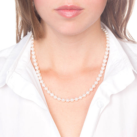 Freshwater Pearl Necklace on model