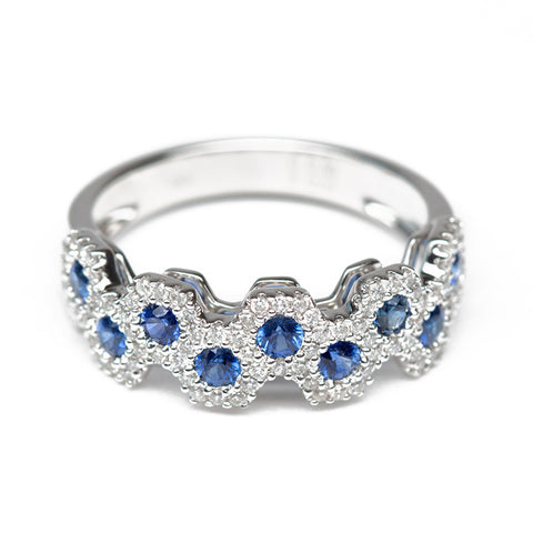 Royal Sapphire And Diamond Ring