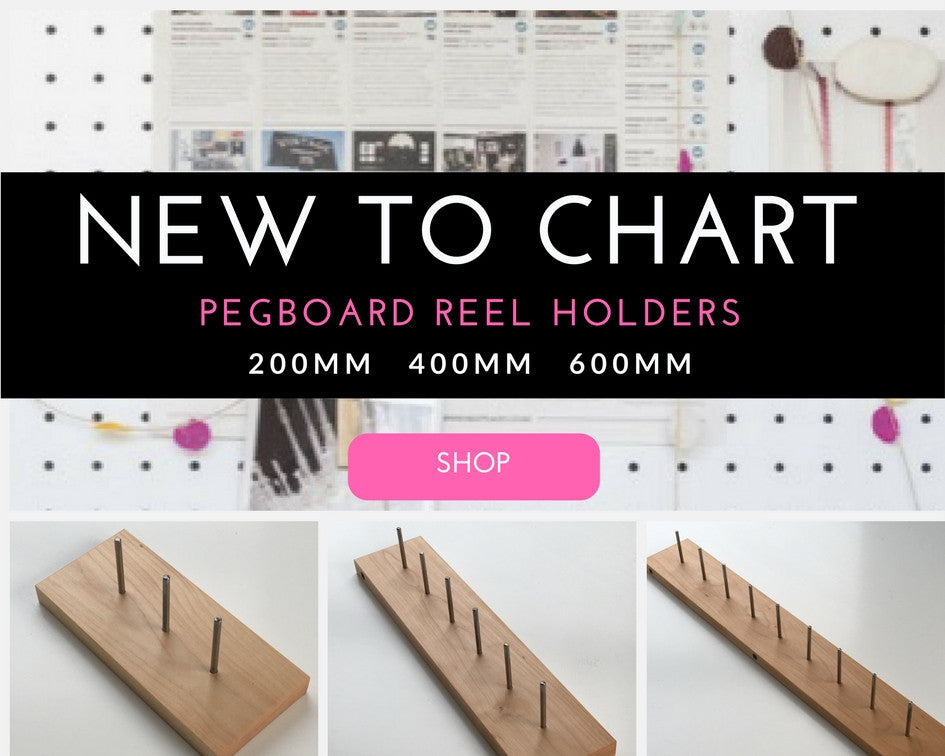 New at Chart        Pegboard Reel Holders