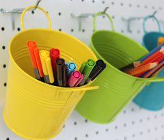 Colourful Metal Buckets