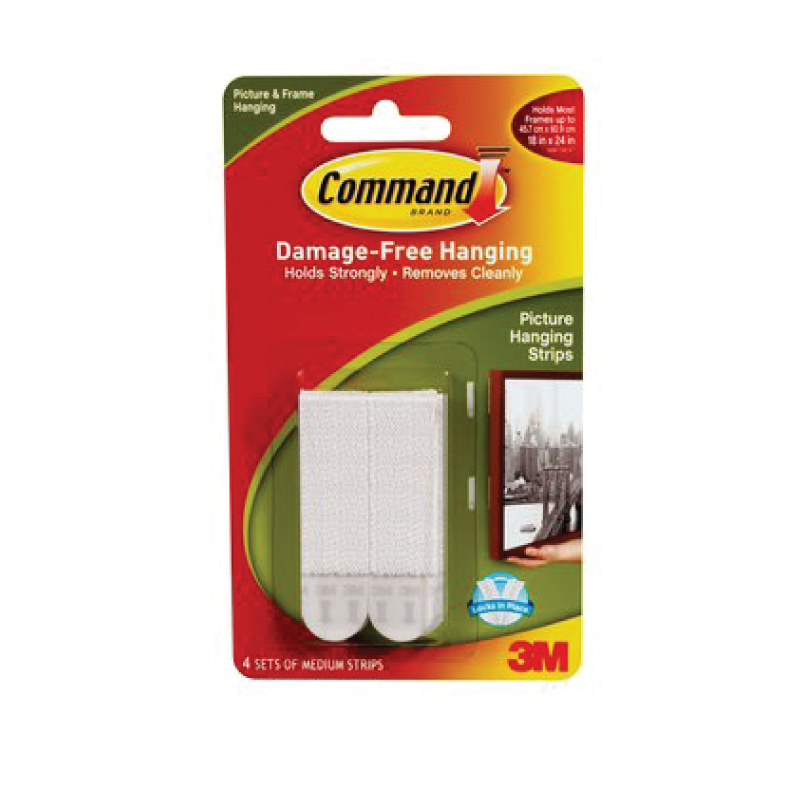 3M Command Strips - 8 Medium Strips - 4 sets