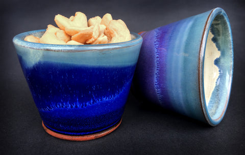 The Pair of Snack Bowls - Deep Sea Blue & Highland Heather
