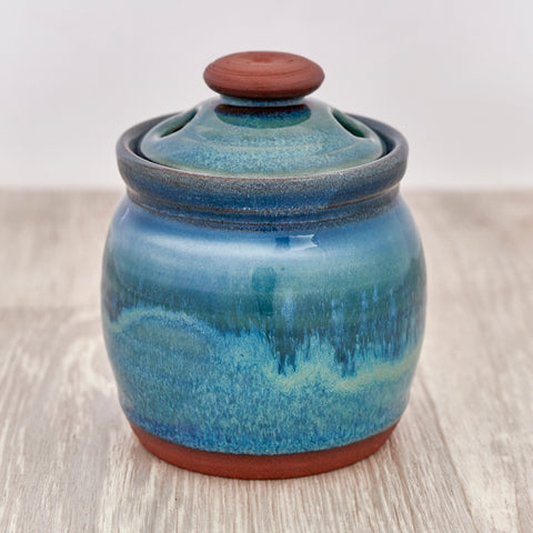 Garlic Pot - Aqua Marine