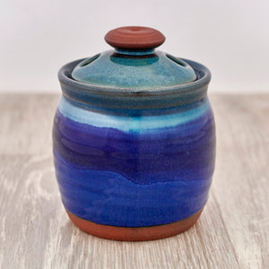 Garlic Pot - Deep Sea Blue