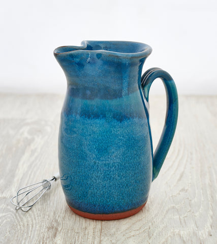 Large Jug and Whisk - Aqua Marine