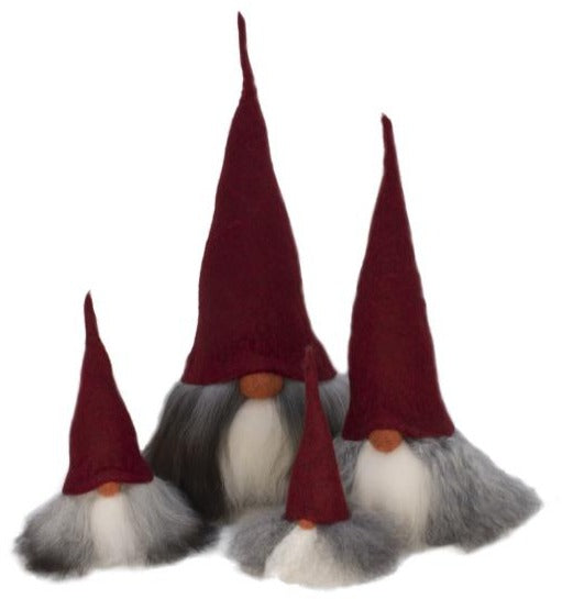 Gnome Family in Red