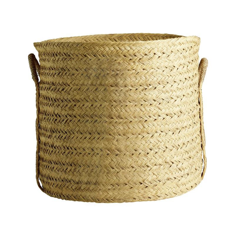 Round Floor Basket with Handles, Large