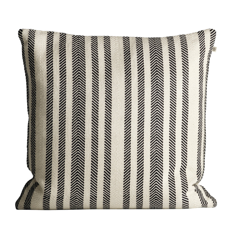 Herringbone Cushion, Black
